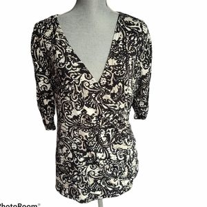 Style & Co V-neck Crossover 3/4 Sleeve Size 1X